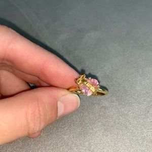 Juicy Couture Pink heart ring with bow